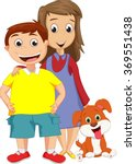 boy and sister standing... | Shutterstock . vector #369551438