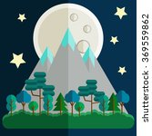 night flat landscape with... | Shutterstock .eps vector #369559862
