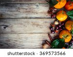 tangerines with nuts... | Shutterstock . vector #369573566