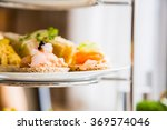 beautiful english afternoon tea ... | Shutterstock . vector #369574046
