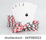 casino chips with cards.poker   Shutterstock . vector #369580022