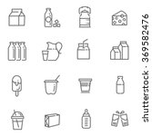 milk icons | Shutterstock .eps vector #369582476