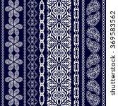 boho style seamless pattern.... | Shutterstock .eps vector #369583562