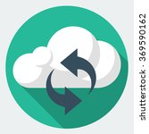 vector cloud sync icon | Shutterstock .eps vector #369590162