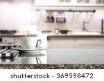 blurred background of kitchen... | Shutterstock . vector #369598472