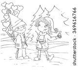 the valentine card cartoon hand ... | Shutterstock .eps vector #369616766