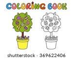 vector flowering tree in pot.... | Shutterstock .eps vector #369622406