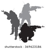silhouettes of special forces... | Shutterstock .eps vector #369623186