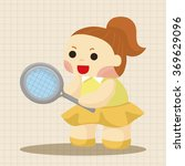 tennis player theme elements | Shutterstock .eps vector #369629096