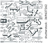 wacky doodle arrows collection. ... | Shutterstock .eps vector #369637262