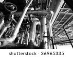 equipment  cables and piping as ... | Shutterstock . vector #36965335