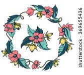 wreath illustration made of... | Shutterstock .eps vector #369655436
