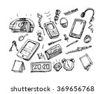 sketch of objects.sketch of... | Shutterstock .eps vector #369656768