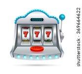 slot machine illustration...   Shutterstock .eps vector #369664622