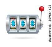 slot machine isolated on white... | Shutterstock .eps vector #369664628