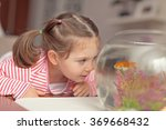 Beautiful Cute Little Girl And...