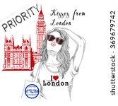 fashion illustration   postcard ... | Shutterstock . vector #369679742