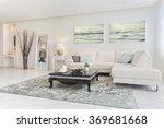 luxury modern living room | Shutterstock . vector #369681668