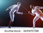 fencing players isolated on... | Shutterstock . vector #369693788