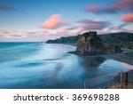 Lion Rock  Piha Beach At Sunset ...