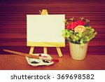 canvas frame and watercolor... | Shutterstock . vector #369698582