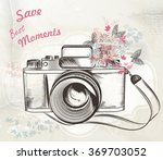 illustration with vintage hand... | Shutterstock .eps vector #369703052