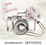 illustration with vintage hand... | Shutterstock .eps vector #369703052