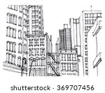 scene street illustration. hand ...