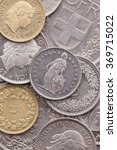 different coins of swiss franc   Shutterstock . vector #369715022