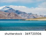 blue lake view with mountians | Shutterstock . vector #369720506