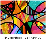 abstract art collage | Shutterstock . vector #369724496