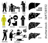 liver cancer symptoms causes... | Shutterstock .eps vector #369728552