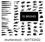 vector set of grunge artistic... | Shutterstock .eps vector #369732422