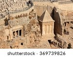 Small photo of Tombs of Absalom, Zechariah and Benei Hezir in the Kidron valley, Jerusalem, Israel