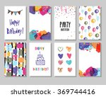creative happy birthday cards... | Shutterstock .eps vector #369744416