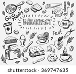 vector breakfast and morning... | Shutterstock .eps vector #369747635