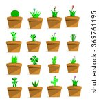 the vector of plant pot | Shutterstock .eps vector #369761195