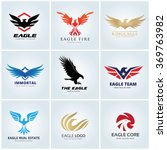 animal logo collection eagle... | Shutterstock .eps vector #369763982