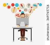 e learning concept design  | Shutterstock .eps vector #369765716