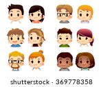 cute vector set of various... | Shutterstock .eps vector #369778358