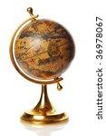old globe isolated on white...