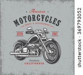 t shirt print with motorcycle... | Shutterstock . vector #369793052