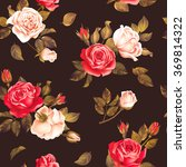 seamless dark pattern with red...