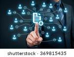 corporate data management... | Shutterstock . vector #369815435