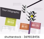 light traffic infographic | Shutterstock .eps vector #369818456