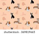 Stock vector dog wallpaper 369819665