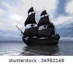 digital visualization of a ship | Shutterstock . vector #36982168