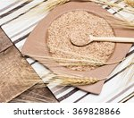 bamboo plate and wooden spoon... | Shutterstock . vector #369828866
