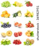 fruit collection | Shutterstock . vector #36982951