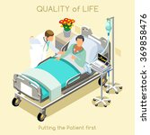 medical visit sick patient bed... | Shutterstock .eps vector #369858476
